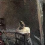 Коровин В мастерской художника 1892-1894 хм 120х57.4 ГТГ