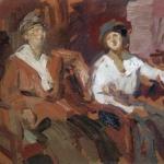 Коровин Двое в креслах 1921 хм Гос Вл-Сузд ист-арх-ный и худож муз-заповедник