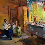 Коровин Девушка с гитарой 1916