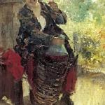 Коровин Женщина с вином 1897