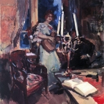 Коровин Ночь Дуэт 1921 хм Киргизск национальный музей изобразительных искусств им Г Айтиева