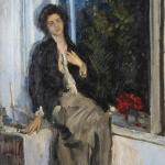 Коровин Портрет Комаровской НИ 1914
