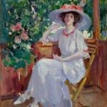 Коровин Портрет актрисы Комаровской НИ 1914