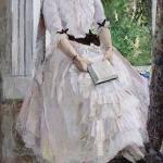 Коровин Портрет артистки ТС Любатович 1886-1888 хм 160х84