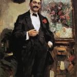 Коровин Портрет венгерскго художника И Рипль-Ронаи 1912 хм 108х71