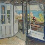 Коровин Балкон в Крыму 1910 хм 54х65 Ульяновский художественный музей