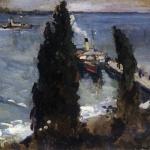 Коровин Гурзуф вечером 1912 хм ГРМ