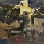 Коровин Гурзуф 1917 хм 53.5х65 Донецкий областной художественный музей