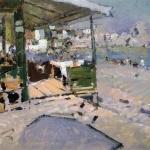 Коровин На берегу моря в Крыму 1909 хм 54х65 ГТГ а
