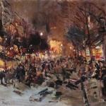 Коровин Бульвар в Париже 1912 хм Саратовск гос худ муз им АН Радищева