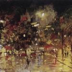 Коровин Ночной Париж 1920 хм