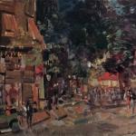Коровин Монмартр вечером 1930е хм 49.5х60.5 Ярославский хм