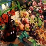 Коровин Вино фрукты 1910е хм 67х89 ГТГ