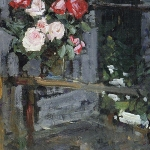 Коровин Розы Вечер 1908 хм 64х54 Национальная галерея Армении