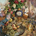 Коровин Розы и фрукты 1921