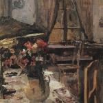 Коровин Сумерки в комнате 1880е хм 71х48 ГТГ