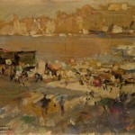Коровин Вид на порт Марселя 57х43
