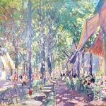 Коровин Кафе на Больших бульварах 1925 хм 50х61 чк