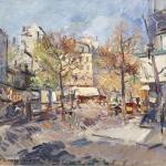 Коровин Осень в Париже 1929 хм 50.5х651.5