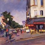 Коровин Парижская улица 1920е