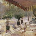 Коровин Парижское кафе конец 1890х хм 50х61 ГТГ