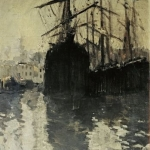 Коровин Порт в Марселе 1890е хм 68.8х56.5 ГТГ