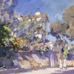 Коровин Улица на юге Франции 1923 хм