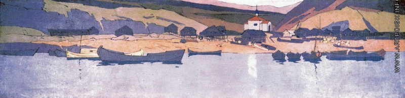 Коровин Вид поселка 1899-1890 к смешанн техника ГРМ