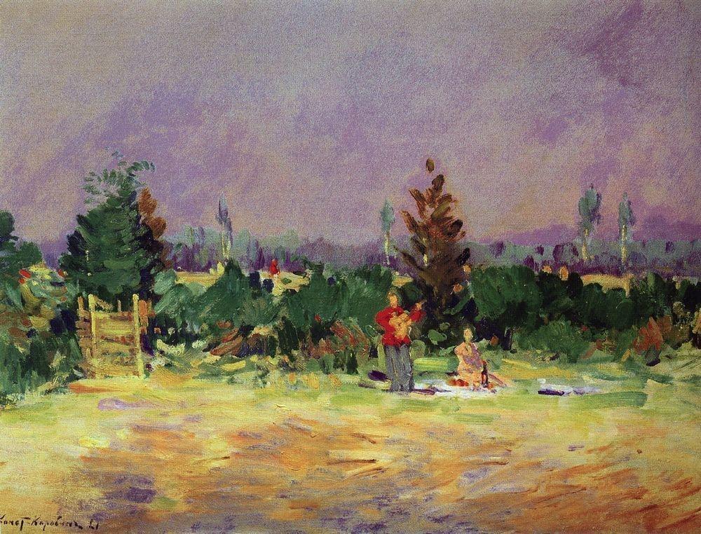 Коровин Жаркий день под Москвой 1921 хм 62х84 Ставропольск краевой музей изобразительн искусства