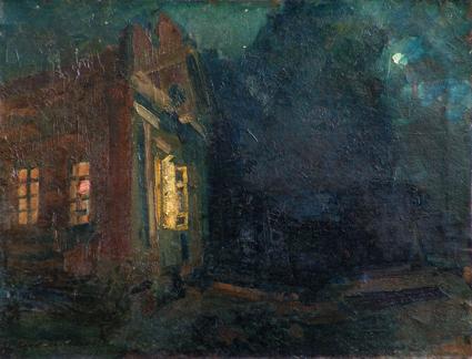 Коровин Ночь Охотино 1912 хкм 65х85 Чувашский государственный художественный музей