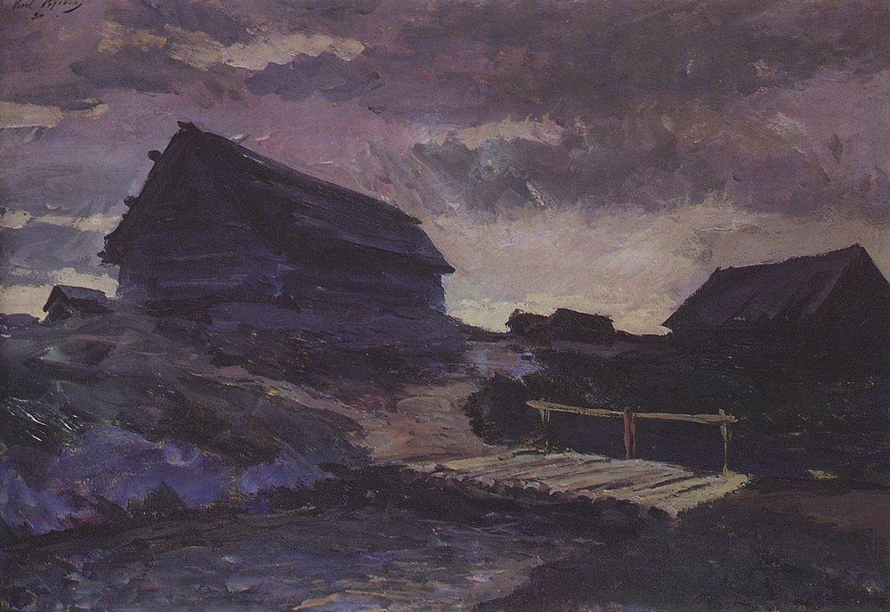 Коровин Пейзаж с избами 1894 хм Музей изобразит искусств Республики Карелия