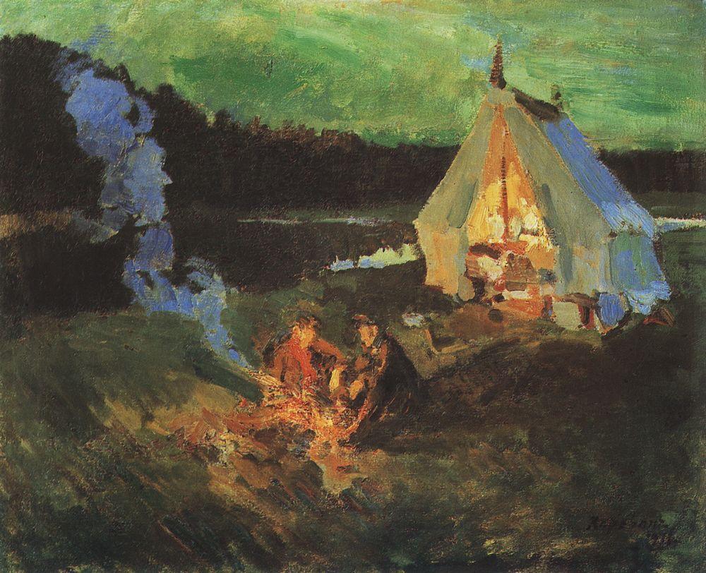 Коровин Привал охотников 1911
