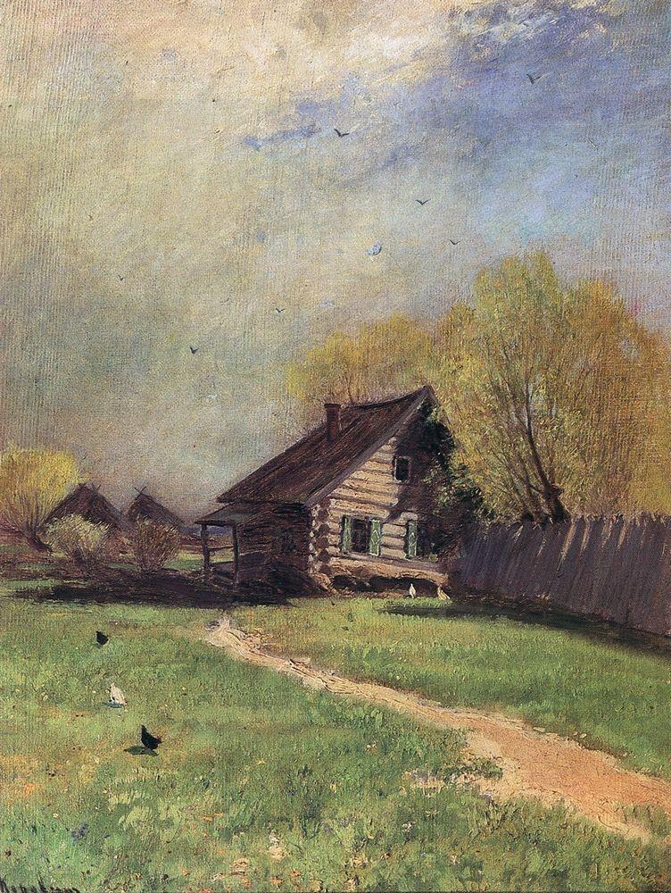 Коровин Ранняя весна 1870е хм 48.5х39.5 ГТГ