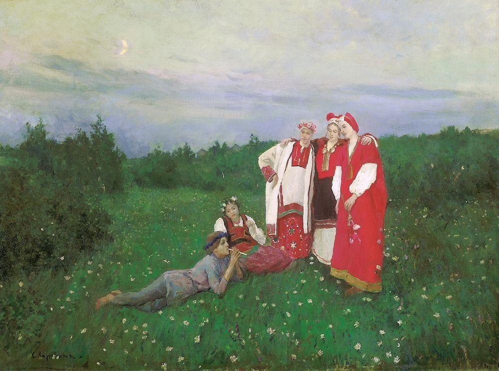 Коровин Северная идилия 1886 хм 113х153 ГТГ