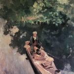Коровин В лодке 1915 хм 87.5х66 Гос центральный театральный музей им АА Бахрушина