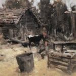 Коровин Двор 1904 хм 53х79.8 ГТГ