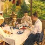 Коровин За чайным столом 1888 хкм 48.5х60.5 Государственный музей-усадьба ВД Поленова (1)