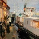 Коровин На пристани 1890е хм 38х31.3