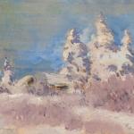 Зима Иней начало 1920х дм 14х18 Частная коллекция