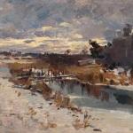 Коровин Весенняя оттепель 1912 хм 69.9х97 частн коллекция