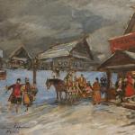 Коровин Вечерние гуляния 1933 хм 30х40 а