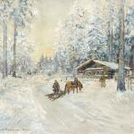 Коровин Зима Лес 1930е
