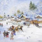 Коровин Зима Праздник 1930е