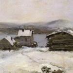 Коровин Зима в Лапландии 1894 дм 23.5х33 ГТГ
