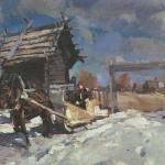 Коровин Зима 1916 хм Частное собрание