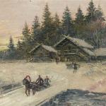 Коровин Зимние гуляния км гуашь 30.5х40 Частная коллекция