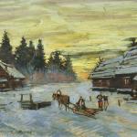 Коровин Зимний вечер 1930е