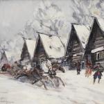 Коровин Зимний пейзаж км 58х67 Частная коллекция