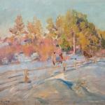 Коровин Зимний пейзаж 1921