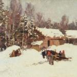 Коровин Зимний пейзаж 1930е хм Дом-музей ФИ Шаляпина